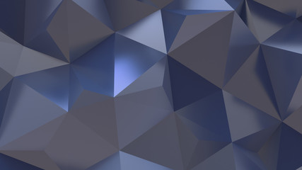 Blue Abstract crystal triangle poly pattern background 3d Illustration