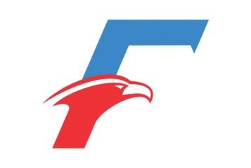 letter F falcon logo