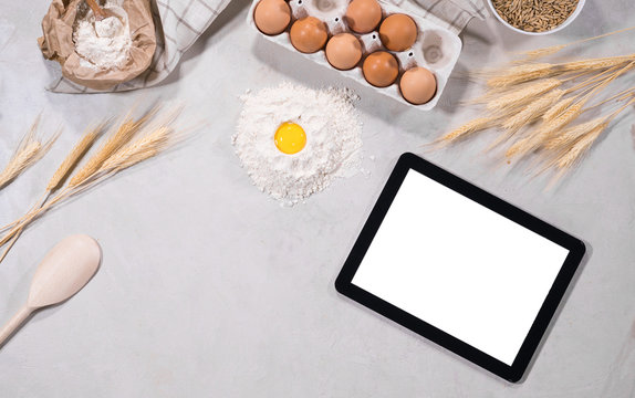 Natural ingredients for baking with tablet