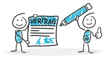 Sticky / Strichmännchen - Vertrag, Unterschrift