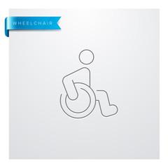 icône Médecine - Santé - Médical - Fauteuil Roulant - Handicapé