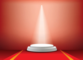 carpet red podium