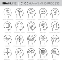 Mind Process Vector Icons 1