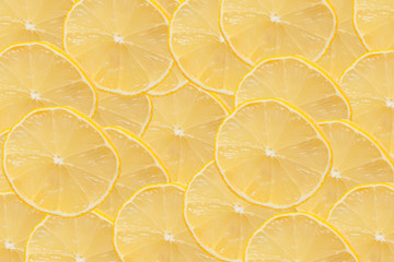 Sliced lemon as background