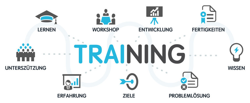 TRAINING Vektor Grafik Icons Priktogramme