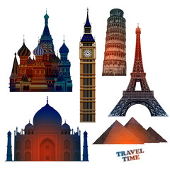 Travel advertising design. Highly realistic illustration.