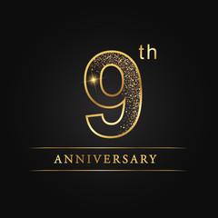 anniversary, aniversary, Nine years anniversary celebration logotype. 9th anniversary logo. Nine years anniversary.