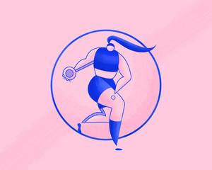 Female athlete Discus throw