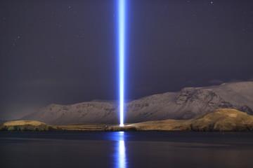 Imagine peace tower, Iceland.