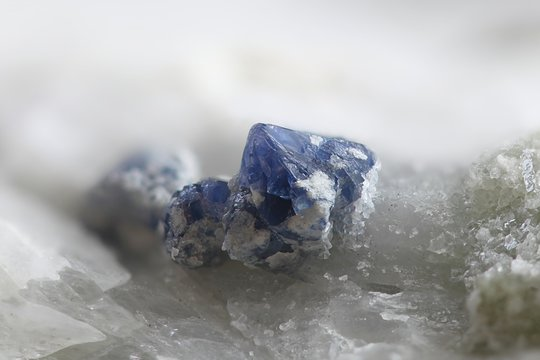 Blue spinel crystals from Finland