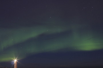 Northern lights(aurora) in Iceland.