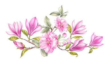 Vintage watercolor botanical illustration.