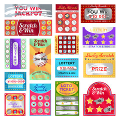 Scratch card set