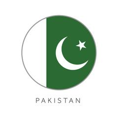 Pakistan flag round circle vector icon