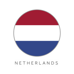 Netherlands flag round circle vector icon