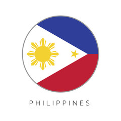 Philippines flag round circle vector icon