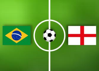 Brasilien VS England - Fußball