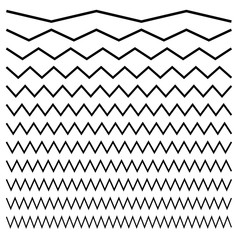 Wavy, criss-cross, zig-zag lines. Set of different levels