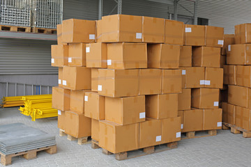 Boxes at Pallets