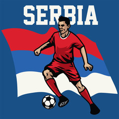 soccer player of serbia
