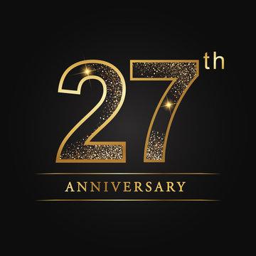 anniversary,aniversary, twenty-seven  years anniversary celebration logotype. 27th anniversary logo. twenty-seven  years.