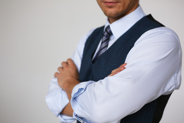 Tie on shirt suit business style man fashion