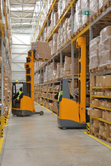Two Forklifts Warehouse