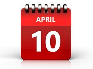 3d 10 april calendar