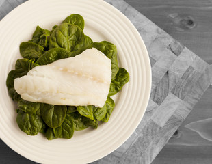 A Simple Plate of Organic Spinach