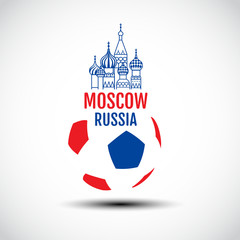 Logo design , vector icon, sign, Symbol,The Most Famous cathedral In Moscow, Saint Basil's Cathedral, Russia, Football Concept, Soccer