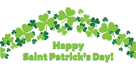 Happy Saint Patricks Day Shamrocks