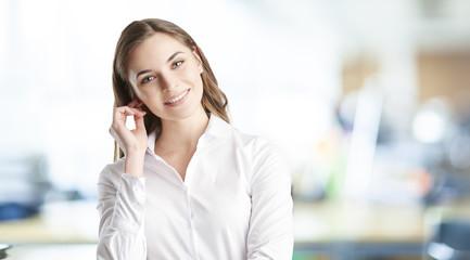 Confident young businesswoman portrait