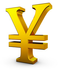 Golden sign of Chinese yuan
