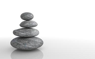 Zen stones stack - Copyspace