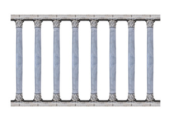 Corintian Order Columns Isolated Photo