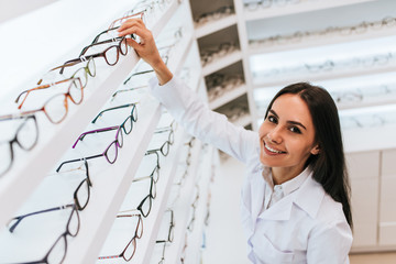 Female doctor in ophthalmology clinic