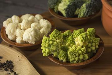 Fresh romanesco broccoli
