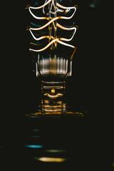 Edison lightbulb lamp throat closeup