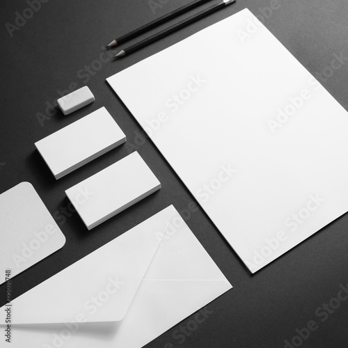 "Blank Stationery And Corporate Identity Template Consist: ""Corporate Identity Template. Blank Stationery Set On"