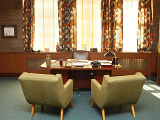 View of retro style office interior Fototapete