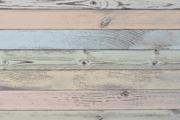 wood planks background or texture with pastel color planks