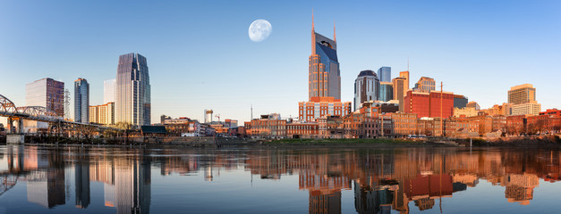 Fototapete - Nashville skyline in the morning