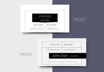 Business Card Layout with Black Accents 1