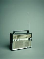 Transistor radio studio shot