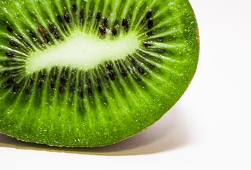 green juicy kiwi on white background