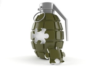 Hand grenade with puzzle part