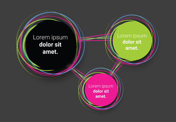 Infographic Layout with Mulitcolored Swirl Element 2