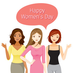 International Women's Day, Women With Various Nations And Skin, Female, Heroine, People, Feminism