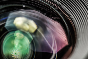 Camera Lens with Aperture Diaphragm