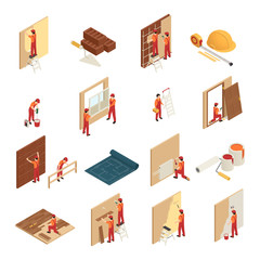 Home Renovation Isometric Icons